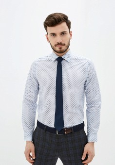 Рубашка, Piazza Italia, цвет: голубой. Артикул: PI022EMIGSP0.