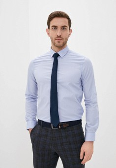 Рубашка, Piazza Italia, цвет: голубой. Артикул: PI022EMIGSP5.