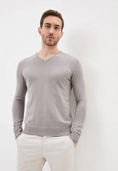 Пуловер, Piazza Italia, цвет: серый. Артикул: PI022EMIGSQ5.