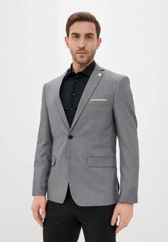 Пиджак, Piazza Italia, цвет: серый. Артикул: PI022EMIGST2.