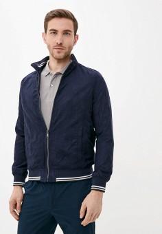 Куртка кожаная, Piazza Italia, цвет: синий. Артикул: PI022EMIGST6.