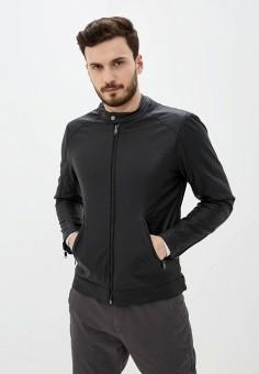 Куртка кожаная, Piazza Italia, цвет: черный. Артикул: PI022EMIGSY7.