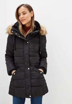Куртка утепленная, Piazza Italia, цвет: черный. Артикул: PI022EWHFVO2.