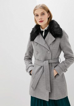 Пальто, Piazza Italia, цвет: серый. Артикул: PI022EWHFVP0.