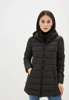 Куртка утепленная, Piazza Italia, цвет: черный. Артикул: PI022EWHFVQ6.