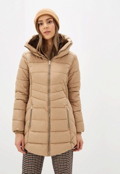 Куртка утепленная, Piazza Italia, цвет: бежевый. Артикул: PI022EWHFVQ8.