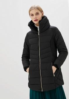 Куртка утепленная, Piazza Italia, цвет: черный, прозрачный. Артикул: PI022EWHFVQ9.