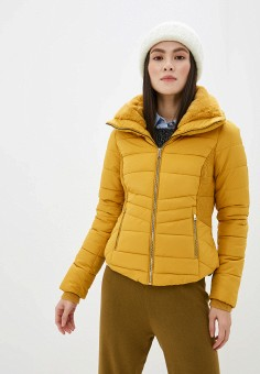Куртка утепленная, Piazza Italia, цвет: желтый. Артикул: PI022EWHHSC2.