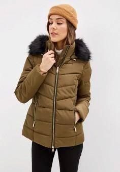 Куртка утепленная, Piazza Italia, цвет: хаки. Артикул: PI022EWHHSC8.