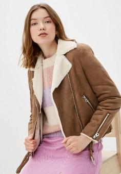 Дубленка, Pimkie, цвет: коричневый. Артикул: PI033EWIGKK3. Одежда / Верхняя одежда / Шубы и дубленки