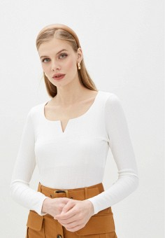 Лонгслив, Pimkie, цвет: белый. Артикул: PI033EWIVIT5. Одежда / Футболки и поло
