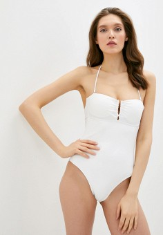 Купальник, Pimkie, цвет: белый. Артикул: PI033EWJEGQ7. Одежда / Купальники и пляжная одежда
