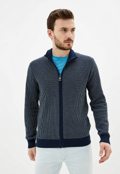 Кардиган, Pierre Cardin, цвет: синий. Артикул: PI365EMIFPF9. Одежда / Джемперы, свитеры и кардиганы / Кардиганы