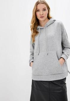 Худи, Pieces, цвет: серый. Артикул: PI752EWHXDU6. Одежда / Толстовки и свитшоты