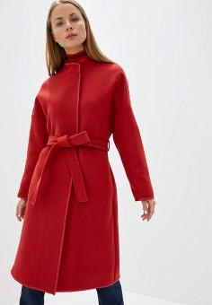 Пальто, Pinko, цвет: красный. Артикул: PI754EWFTYJ9. Одежда / Верхняя одежда / Пальто / Зимние пальто