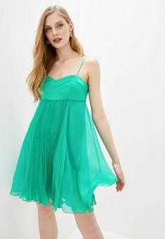 Платье, Pinko, цвет: бирюзовый. Артикул: PI754EWHZNL2. Одежда / Платья и сарафаны / Вечерние платья
