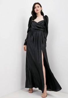 Платье, Pinko, цвет: черный. Артикул: PI754EWJSHW8. Одежда / Платья и сарафаны / Вечерние платья