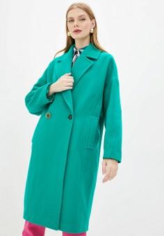 Пальто, Pinko, цвет: зеленый. Артикул: PI754EWJSIX7.