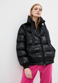 Куртка утепленная, Pinko, цвет: черный. Артикул: PI754EWJVOH1. Одежда / Верхняя одежда / Демисезонные куртки