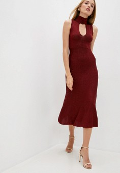 Платье, Pinko, цвет: красный. Артикул: PI754EWJVOM0. Одежда / Платья и сарафаны / Вечерние платья