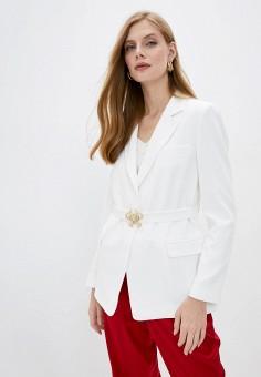 Жакет, Pinko, цвет: белый. Артикул: PI754EWJVPA2. Одежда / Пиджаки и костюмы
