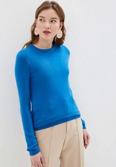 Джемпер, Plum Tree, цвет: голубой. Артикул: PL010EWHHGP5. Одежда / Джемперы, свитеры и кардиганы / Джемперы и пуловеры / Джемперы