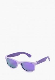 Очки солнцезащитные, Polaroid, цвет: фиолетовый. Артикул: PO003DGABWM3. Девочкам / Аксессуары
