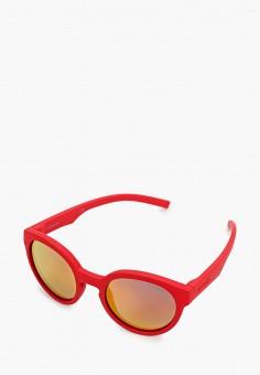 Очки солнцезащитные, Polaroid, цвет: красный. Артикул: PO003DGJCQU6. Девочкам / Аксессуары