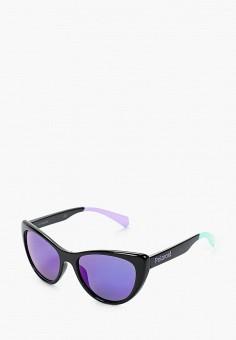 Очки солнцезащитные, Polaroid, цвет: черный. Артикул: PO003DGJCZO1. Девочкам / Аксессуары