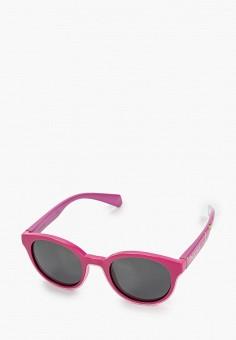 Очки солнцезащитные, Polaroid, цвет: розовый. Артикул: PO003DGUCX54. Девочкам / Аксессуары