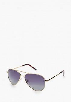 Очки солнцезащитные, Polaroid, цвет: золотой. Артикул: PO003DKJCQU2. Девочкам / Аксессуары