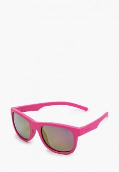 Очки солнцезащитные, Polaroid, цвет: розовый. Артикул: PO003DKJCQV2. Девочкам / Аксессуары