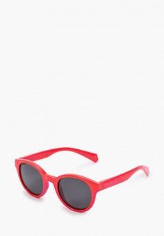 Очки солнцезащитные, Polaroid, цвет: красный. Артикул: PO003DKJCQV5. Девочкам / Аксессуары