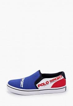 Слипоны, Polo Ralph Lauren, цвет: синий. Артикул: PO006ABIVCY8.