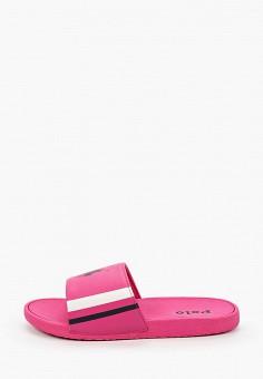Сланцы, Polo Ralph Lauren, цвет: розовый. Артикул: PO006AGIVCY4.