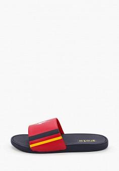Сланцы, Polo Ralph Lauren, цвет: красный. Артикул: PO006AKIVCY1.