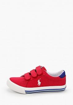 Кеды, Polo Ralph Lauren, цвет: красный. Артикул: PO006AKIVCZ7.