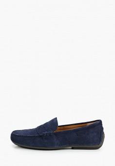 Мокасины, Polo Ralph Lauren, цвет: синий. Артикул: PO006AMJBTJ0. Обувь / Мокасины и топсайдеры