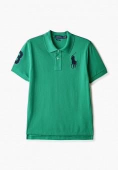 Поло, Polo Ralph Lauren, цвет: зеленый. Артикул: PO006EBHUBL3.