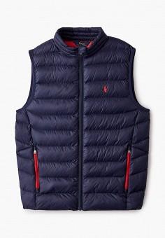 Жилет утепленный, Polo Ralph Lauren, цвет: синий. Артикул: PO006EBJRIE3. Мальчикам / Одежда / Верхняя одежда
