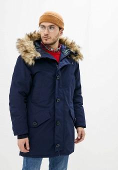 Пуховик, Polo Ralph Lauren, цвет: синий. Артикул: PO006EMGGLF8. Одежда / Верхняя одежда / Пуховики и зимние куртки / Пуховики