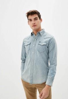 Рубашка джинсовая, Polo Ralph Lauren, цвет: голубой. Артикул: PO006EMHTZR0.