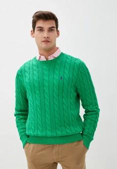 Джемпер, Polo Ralph Lauren, цвет: зеленый. Артикул: PO006EMHTZU0. Одежда / Джемперы, свитеры и кардиганы / Джемперы и пуловеры
