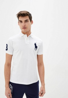 Поло, Polo Ralph Lauren, цвет: белый. Артикул: PO006EMHUCJ5.