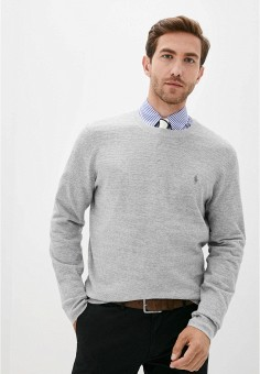 Джемпер, Polo Ralph Lauren, цвет: серый. Артикул: PO006EMJRJS9.