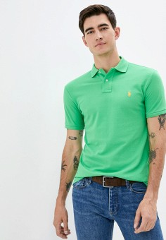Поло, Polo Ralph Lauren, цвет: зеленый. Артикул: PO006EMJRJX3. Одежда / Футболки и поло