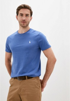 Футболка, Polo Ralph Lauren, цвет: синий. Артикул: PO006EMJRJZ7. Одежда / Футболки и поло