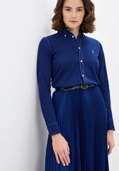 Рубашка, Polo Ralph Lauren, цвет: синий. Артикул: PO006EWHTSI2.