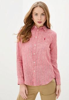Рубашка, Polo Ralph Lauren, цвет: красный. Артикул: PO006EWHTWQ3. Одежда / Блузы и рубашки / Рубашки