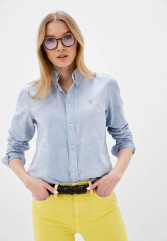 Рубашка, Polo Ralph Lauren, цвет: голубой. Артикул: PO006EWHTYO3. Одежда / Блузы и рубашки / Рубашки